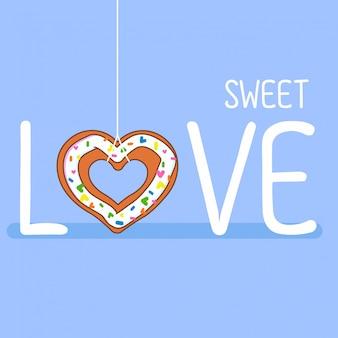 Süße liebe mit donuts