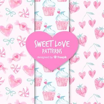 Süße liebesmuster