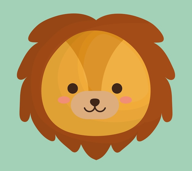 Süße löwen tierikone