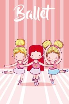 Süße mädchen balletttänzer
