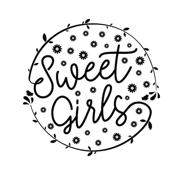 Süße mädchen typografie