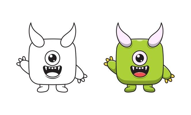 süße monster cartoon malvorlagen