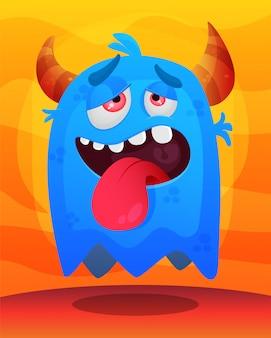 Süße monster illustration