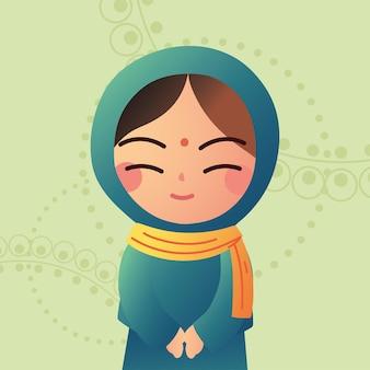 Süße muslimische frau