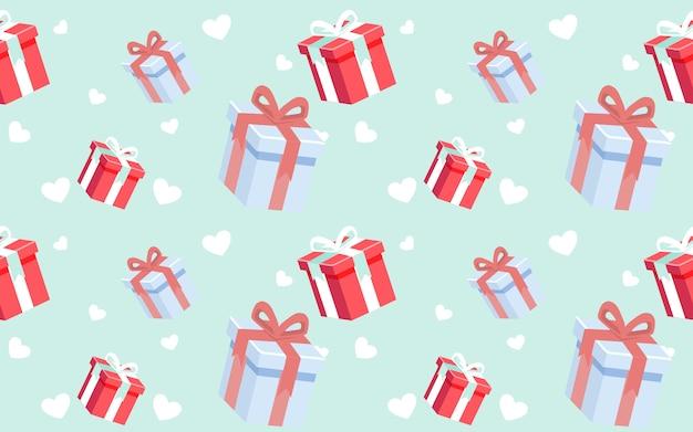 Süße muster-geschenkbox