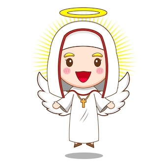 Süße nonne als engel