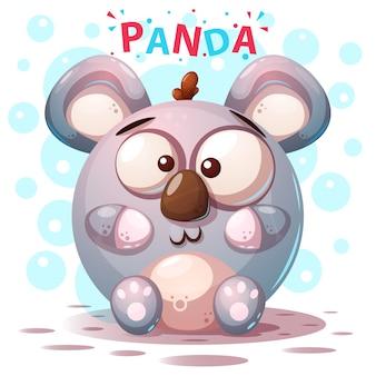Süße panda-figuren