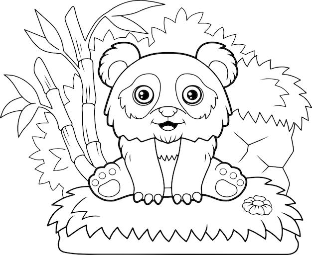 Süße panda illustration