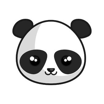 Süße panda kawaii-stil