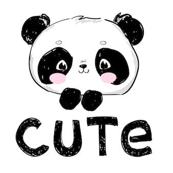 Süße pandaskizze