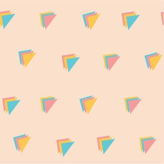 Süße pastellfarbe dreifach-dreieck-muster