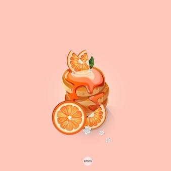 Süße pfannkuchenorange