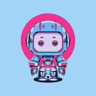 Süße roboterillustration