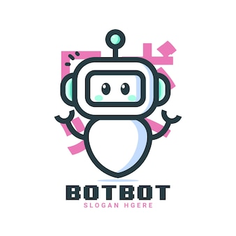 Süße roboterlogos