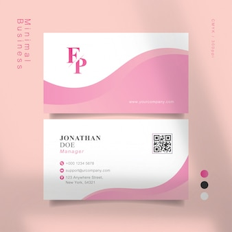 Süße rosa visitenkarte