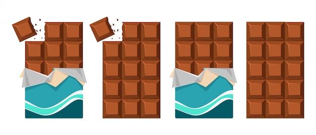 Süße schokoladentafel
