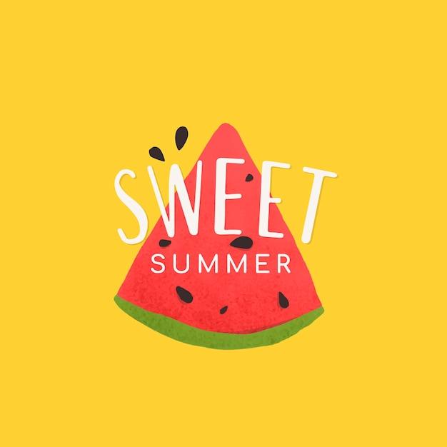 Süße sommerwassermelone
