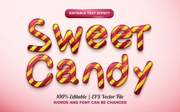 Süße süßigkeit 3d flüssiger bearbeitbarer texteffekt
