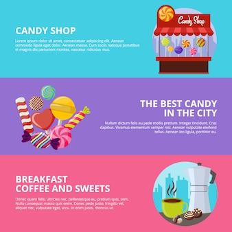 Süße süßigkeiten banner