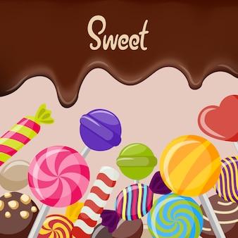 Süße süßigkeiten illustration