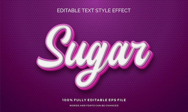 Süße text rosa farbe. bearbeitbarer textstileffekt