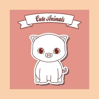 Süße tiere design