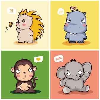 Süße tiere festgelegt