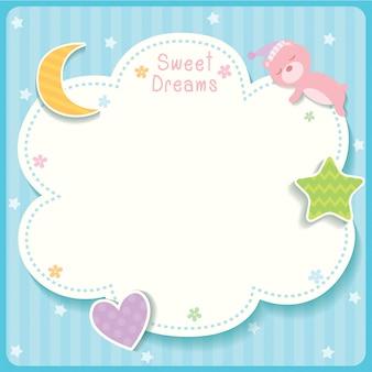 Süße träume blaue vorlage.