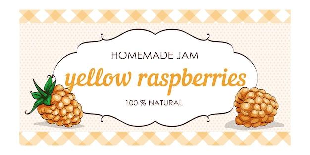 Süße und gesunde hausgemachte gelbe himbeermarmelade