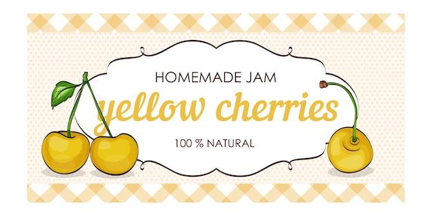 Süße und gesunde hausgemachte gelbe kirschenmarmelade
