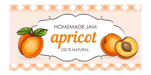 Süße und gesunde hausgemachte marmelade aus aprikosenmarmelade