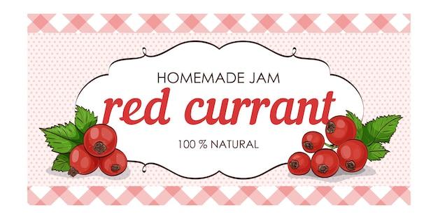 Süße und gesunde hausgemachte marmelade mit roten johannisbeeren