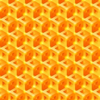Süße waben 3d fliesenmuster. nahtloser vektor hintergrund