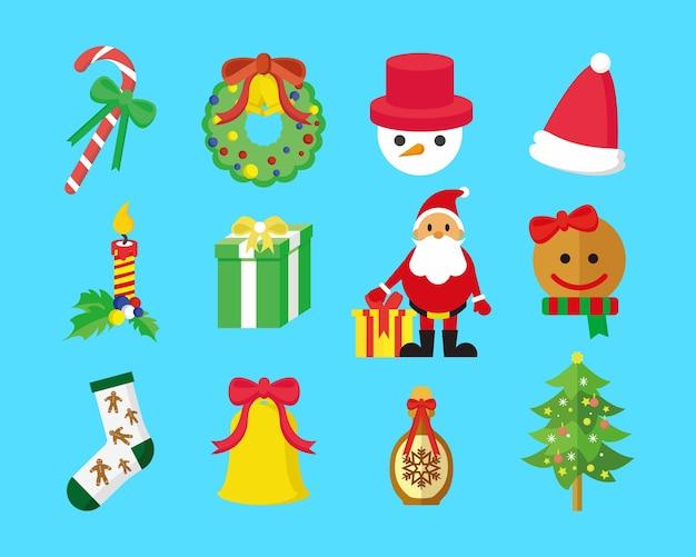 Süße weihnachten illustration pack