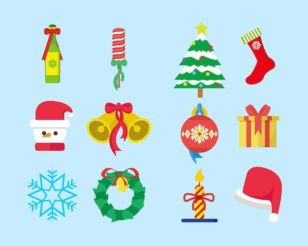 Süße weihnachten set pack