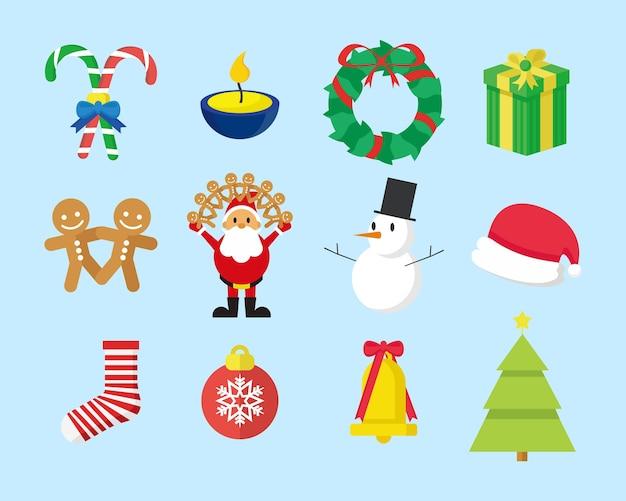 Süße weihnachts-grafik pack