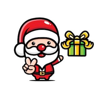 Süße weihnachtsmann designs und geschenkboxen