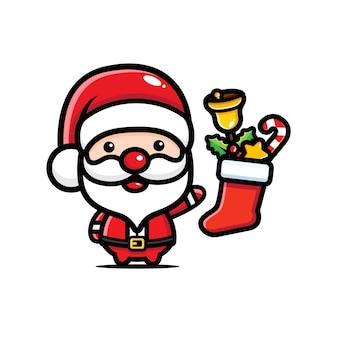 Süße weihnachtsmann designs und socken