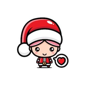 Süße weihnachtsmann mädchen designs