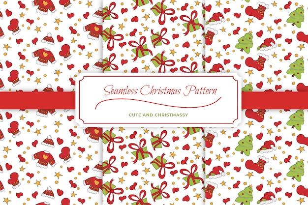Süße weihnachtsmuster: nahtlos