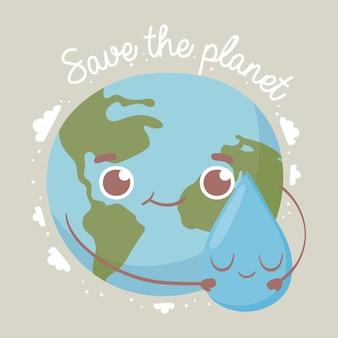 Süße welt rettet den planeten