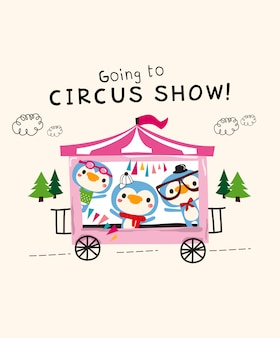 Süße zirkusshow