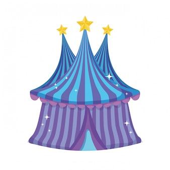 Süße zirkuszelt-symbol