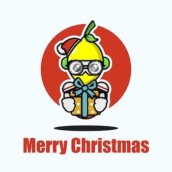 Süße zitrone, die weihnachten feiert