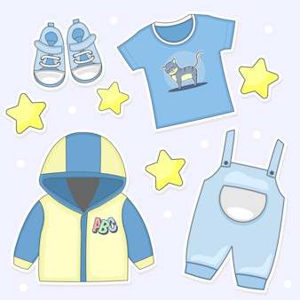 Süßer baby outfit sticker