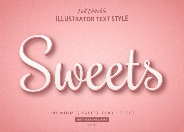 Süßer fester pastell-textstil-effekt