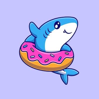 Süßer hai mit donut