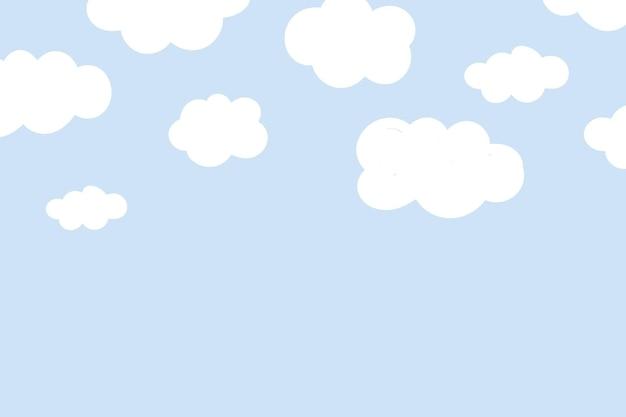 Süßer hintergrund mit flauschigem wolkenmuster