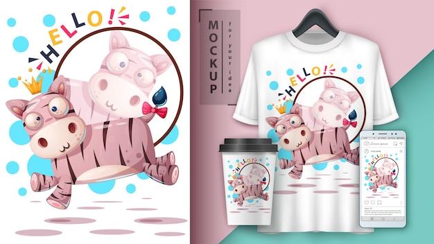 Süßer jump teddy und merchandising