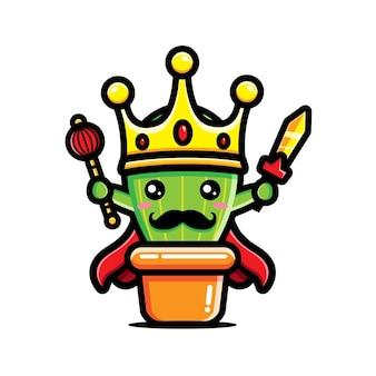 Süßer kaktus, um könig zu sein